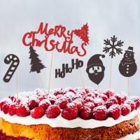 페이퍼 크리스마스 데코픽(7입) - 레터링
