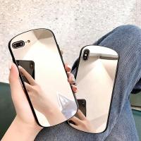 아이폰 XR XS MAX 8 7 심플 블랙 미러 실리콘 케이스