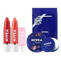 니베아 보습력좋은 립밤틴트 순한크림 커플 선물세트