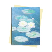 그리팅카드 Monet-Water Lilies Evening