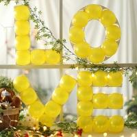 LOVE 프레임 풍선세트(옐로우)