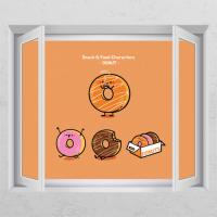 id442-음식캐릭터(도넛)_창문그림액자