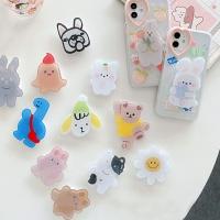 귀여운 곰돌이 공룡 캐릭터 레진 그립톡 핸드폰거치대