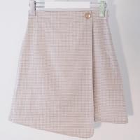 Check Wrap Skirt(L/BE)