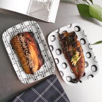 일본식기 링고딩고 둥근사각접시
