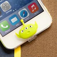 디즈니 라이트닝캡 리틀그린맨 아이폰5-6 홈버튼