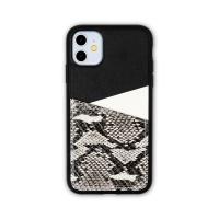 스매스 아이폰11 보호 가죽 카드케이스 오원_블랙(파이톤)