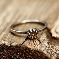 [수크] RS-132 꼬마 황동이니셜 반지(Brass Initial Ring)