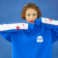 Korea Newtro SweatShirts CoblatBlue