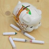 [KOBARU] 코바루 Original 일본산 돼지저금통+세라믹마카 세트 B511-4