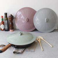 (국산) 파스텔실리콘 후라이팬 덮개 - 3color