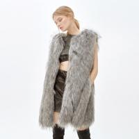 JINNY faux fur vest_grey