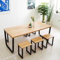 스틸뷰 1800식탁 각진프레임 테이블