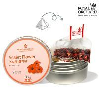[로얄오차드]스칼렛플라워 실버틴 8사체 - 붉은색의 정열적인 아이스 허브티(오미자와 로즈힙의 만남) Ice Hub Tea