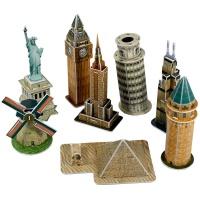 큐빅펀 3D퍼즐 세계 유명건축물 8종