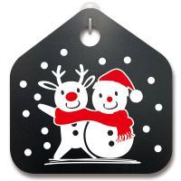 크리스마스알림판_루돌프와 눈사람과 함께