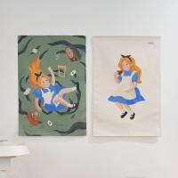 앨리스 일러스트 패브릭 포스터 / 가리개 커튼