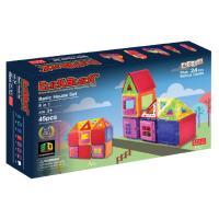 맥포머스 호환 45pcs 맥킨더 자석블럭 클릭블럭-베이직 하우스 세트
