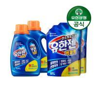 [유한양행]유한젠표백제 용기1.4L 2개+리필1.8L 2개