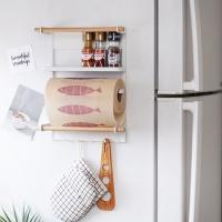 [DDUDDU] 푸코와이어 냉장고 거치대 WH