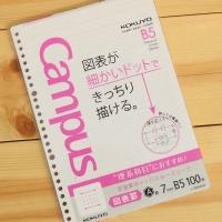 [KOKUYO] 이과생을 위한 B5-100매 도형노트-일본 고쿠요 루스리프 26공바인더 리필 속지-도표 HB512-1