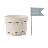 [Blooming]Paper Muffin Cups with Flags머핀컵21213924