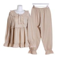 [쿠비카]이중 거즈면 소매훌 투피스 여성잠옷 W516