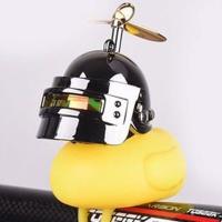 러버덕 날개 헬멧 프로펠러 자전거라이트 벨 WC27실버
