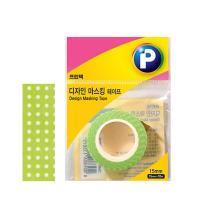 [프린텍] DM07-1510_디자인마스킹 테이프/물방울/15mmx10m