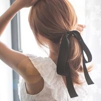 내츄럴 롱 리본 머리끈