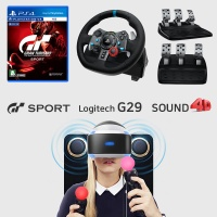 PS4 로지텍 G29 레이싱휠+그란투리스모+사운드포디팩