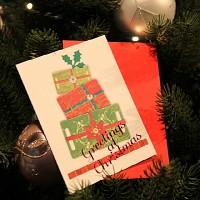 하베스터 크리스마스 카드 - 사랑을 담아서
