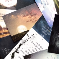 윤동주 하늘과 바람과 별과 시 캘리그라피 엽서 10종
