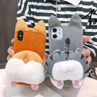 아이폰11 XR XS MAX X 입체엉덩이 캐릭터 커플케이스