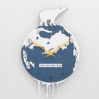북극곰 무소음 벽시계