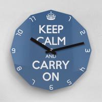 리플렉스 KEEP CALM AND CARRY ON 12각 무소음벽시계 KP12CBL