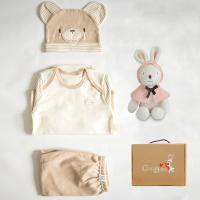 [CONY]오가닉탄생백일선물4종세트(곰돌이3종+꼬마토끼인형)