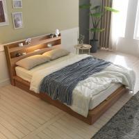 [보루네오 하우스] 아르메 엘피노 LED 평상형 침대 Q_컴포트 본넬매트