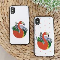 아이폰X/XS 눌눌 Flamingo 카드케이스