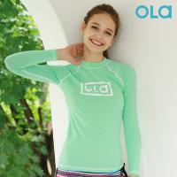[OLA]올라 여성 아쿠아 민트 래쉬가드 P00000BB 서핑/수영복/비치웨어