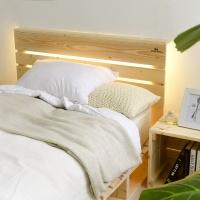 원목 침대헤드 간접 조명등 LED(S/SS/Q)