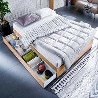 [채우리] 로라 침대 S_겹면 양면매트리스 포함
