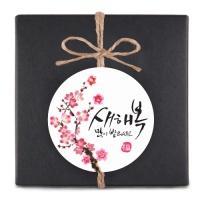 [인디고샵] 동백꽃 새해복 원형 라벨 (10개)
