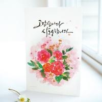 1개] 카네이션 꽃 카드
