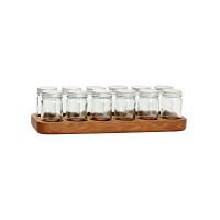 [Hubsch]Spice shelf w/glass jars 386006 보관용기세트