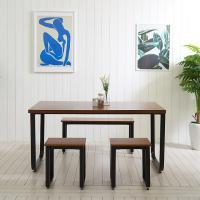 스틸뷰 1500 식탁+의자세트  각진프레임