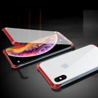 아이폰XR 풀커버 마그네틱 자석 투명 강화유리 케이스