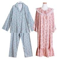 [쿠비카]모달 코튼 카라 원피스 커플 순면잠옷 WM197