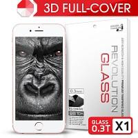 [프로텍트엠] 레볼루션글라스 0.3T 3D 곡면리얼풀커버 강화유리/방탄액정보호필름 아이폰6S플러스/6플러스 iPhone6S Plus/6 Plus 5.5인치