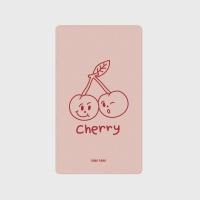 [어프어프] 보조배터리 Twin cherries-Indy pink